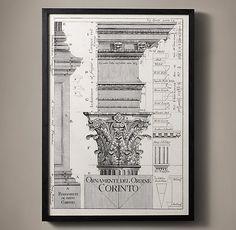 Italian Neoclassical Column Etchings - Corinto
