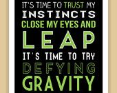 Wicked Musical No Day But Today Quote modern print poster 8x10. $8.99, via Etsy. Renny/ash