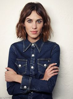 Musical talent: Model Alexa Chung, 31, showcases her impressive singing voice in the new short film, which was created in order to promote her new denim collaboration