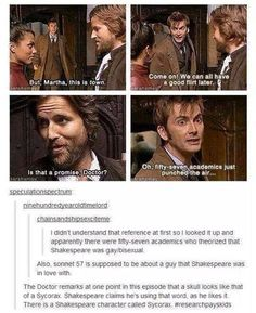 When nerd worlds collide. Doctor Who & Shakespeare. Tardis, Fandoms, Geeks, 10th Doctor, Twelfth Doctor, My Sun And Stars, Don't Blink, Torchwood, Film Serie