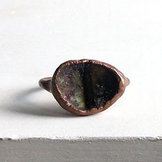 Tourmaline Ring Gemstone Birthstone Ring October by MidwestAlchemy
