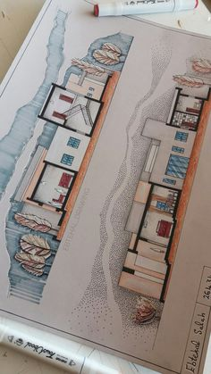 Architecture Journal, Architecture Concept Diagram, Architecture Concept Drawings, Architecture Design, Cad 2d, Autocad 3d, Interior Design Presentation, Plakat Design, Interior Design Sketches