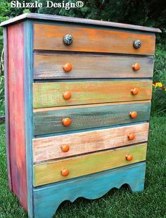 Patchwork Painted Dresser — American Paint Company