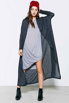 Silence + Noise Layer-It-On Duster Cardigan Sweater - Urban Outfitters
