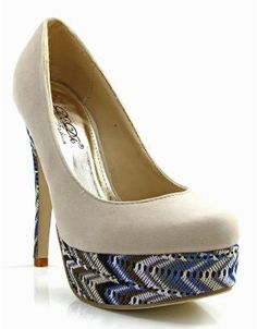 Shop ModDeals.com for discounted ZigZag Trimmed Suede Platform Heels in Nude. Find cheap women's Heels and Pumps in our online fashion clothes & accessories store.