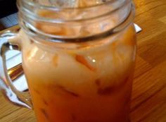 Thai Iced Tea Recipe, make this restaurant favorite at home! Asian Tea, Black Tea Leaves, Smoothie Drinks, Smoothies, Yellow Food Coloring, Orange Blossom Water, Thai Tea, Thai Cooking, Thai Recipes