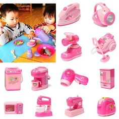 13 Pattern Baby Kids Appliances Toy Educational Pretend Play Housework Childhood