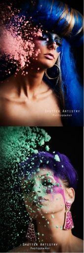 avant garde makeup fantasy hair concept photography