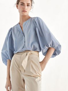 Shirts & blouses - women - massimo dutti - united states of america Womens Fashion For Work, Trendy Fashion, Girl Fashion, Fashion Outfits, Fashion Ideas, Style Casual, My Style, Cos Dresses, Moda Do Momento