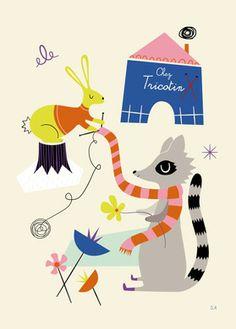 Affiche Illustration Rétro pour Enfants - Sarah Andreacchio - L'Affiche Moderne
