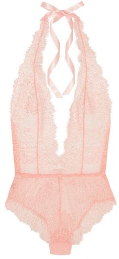 L'Agent by Agent Provocateur Grace lace and stretch-tulle bodysuit