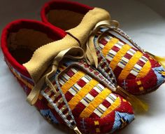 Made by Debra Soldier-Tacan. Quilled & Beaded Moccasins that I recently finished.