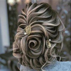 Evening Hairstyles, Bride Hairstyles, Cool Hairstyles, Peinado Updo, Cabello Hair, Bridal Hair Updo, Wedding Hair Inspiration, Floral Hair, Hair Dos