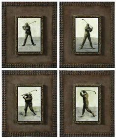 vintage golf prints