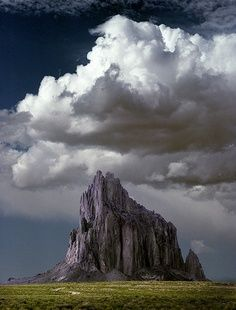 Ship Rock, New Mexico:  I have been by this rock many times with storm clouds like this in the sky, also in rain, snow and wind...