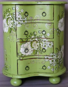Hand Painted Shabby Chic Furniture | Green Acres Has A Gorgeous Floral  Design In Shades Of
