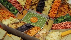 How to Make a Football Snack Stadium (video)