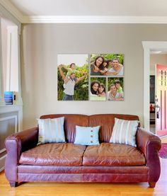 Custom canvas wall displays from Michaels. Refresh your walls with some of your favorite family photos.