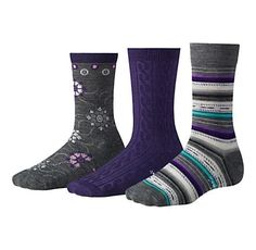 Womens Smartwool Ultra Comfy Trio Socks. Can't have enough wool socks!!