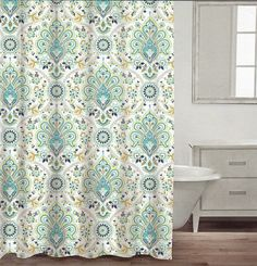 Max Studio Home 100 Percent Cotton Shower Curtain Moroccan