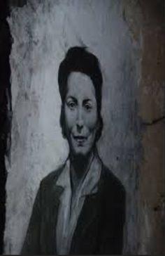"""Ernest Pignon Ernest - prison St Paul de Lyon - Berthie Albrecht . Une dame dont les vraies valeurs de l'existence s'appellent le courage et la volonté, """" vivre conformément à l'honneur et à l'idéal qu'on se fait."""""""