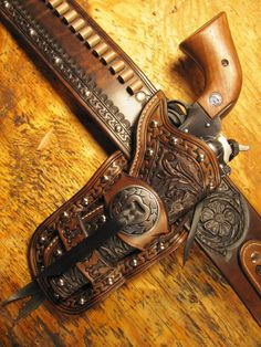 Carved/san Carlos Border Rig For Single Six - Gun Holsters, Rifle Slings and Knife Sheathes - by Josh Ashman