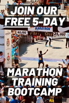 This totally free marathon training bootcamp got me ready for my first marathon! Great free marathon advice, tips and how to run a marathon - including videos. Training Plan, Training Equipment, Free Training, Running Training, First Marathon, Half Marathon Training, Marathon Running, Running Humor, Running Motivation