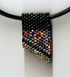 Mini Black Confetti Slide Necklace