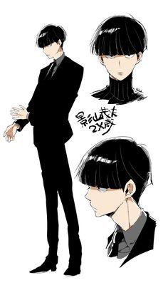 "Kageyama ""Mob"" Shigeo, text, grown up, timeskip; Mob Psycho 100 ONE's webcomic started off the Cute Anime Guys, Anime Boys, Manga Anime, Anime Boy Hair, One Punch Man, Mob Psycho 100 Anime, Mob Physco 100, Estilo Anime, Art Reference Poses"