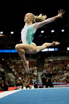 2017 - Day one of senior women's competition at the 2017 P&G Championships at Honda Center in Anaheim, Calif. Photo by John Cheng. Gymnastics Tricks, Gymnastics Costumes, Gymnastics Poses, Amazing Gymnastics, Gymnastics Pictures, Artistic Gymnastics, Olympic Gymnastics, Gymnastics Girls, Gymnastics Leotards