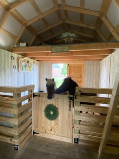 Mini Horse Barn, Miniature Horse Barn, Horse Barn Plans, Mini Barn, Barn Stalls, Horse Stalls, Horse Barns, Horse Stall Decorations, Horse Tack Rooms