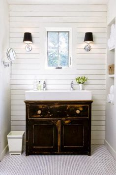 Bathroom Basement Simple Bathroom Vanity But Maybe With A Concrete Countertop Chapmansion Pinterest Simple Bathroom Bathroom Vanities And