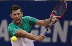 Dominic Thiem of Austria returns the ball to Rafael Nadal of Spain during the ATP Argentin...