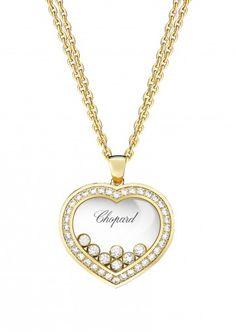 Chopard ジュエリー ペンダント Happy Curves ジュエリー ペンダント 18Kイエローゴールド&ダイヤモンド