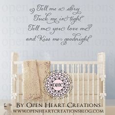 Read Me a Story Baby Nursery Saying Vinyl by OpenHeartCreations