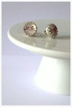 Fabulous stud earrings with my blossom cabochons from Jewellery By Paula Pearson!