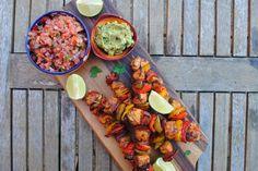 Mexican Fajita Chicken Skewers