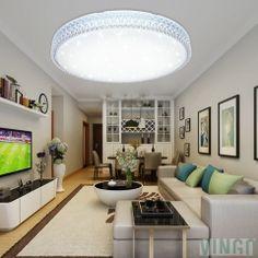 60W LED Kristall Deckenleuchte Sternenhimmel Kaltweiß Starlight Eckig  Deckenbeleuchtung Wohnzimmer Deckenlampe Korridor Schlafzimmer Schönes  6000K