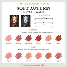 If you have just discovered that you are a Soft Autumn in the seasonal colour analysis, find out what the best Soft Autumn make-up colours are. Soft Autumn Makeup, Soft Autumn Color Palette, Fall Makeup, Lipstick Palette, Lipstick Colors, Soft Autumn Deep, Rock My Style, Seasonal Color Analysis, Colors For Skin Tone