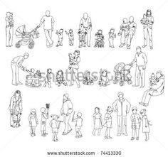 Картинки по запросу people silhouette sketch