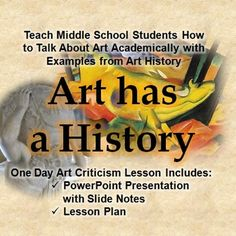 It's important to be able to look at and talk about art academically. An easy way to discuss art is to use the visual elements. This PowerPoint is a one day discussion about the visual elements and introduce the concept of art history.