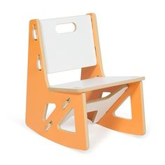 This modern kids rocking chair is not your traditional rocking chair!