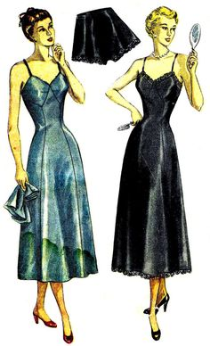 1940s Simplicity 2692 Womens Full Slip Panties Tap by patternshop, $17.99