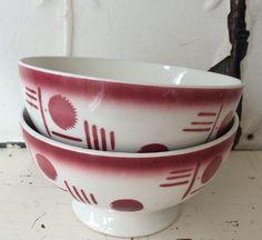 vintage french latte bowls...