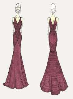 Vera Wang's sketch for Julia Louis-Dreyfus' #Emmy12 gown