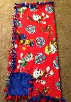 Paw Patrol No Sew Fleece Blanket by FitToBeTiedX on Etsy