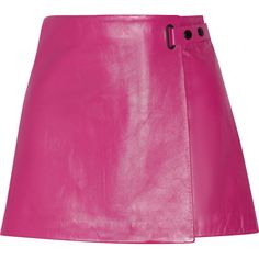 T by Alexander Wang Leather mini skirt (£235) ❤ liked on Polyvore featuring skirts, mini skirts, fuchsia, stretch skirts, mini skirt, leather mini skirt, t by alexander wang skirt and fuschia skirt