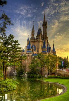 Cinderella Castle at Tokyo Disneyland.