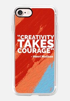Casetify iPhone 7 Classic Grip Case - Creativity Takes Courage by Edward Fielding #Casetify