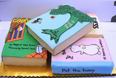 There's an entire Flickr pool devoted to book cakes. You're welcome. http://www.flickr.com/groups/book-cakes/pool/